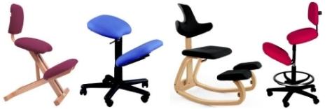 sillas de rodillas